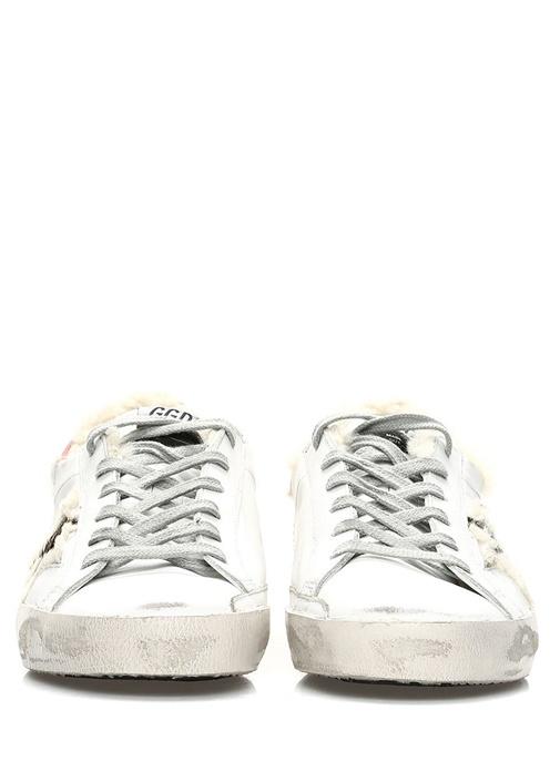 Superstar Beyaz Peluş Detaylı Kadın Deri Sneaker