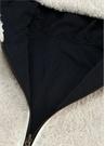 Lacivert Kapüşonlu Shearling Kız Çocuk Palto