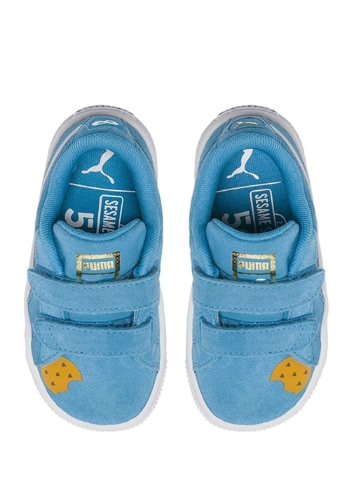 Sesame Street 50 Mavi Erkek Bebek Süet Sneaker