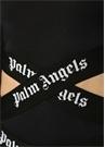 Siyah Çapraz Logo Bantlı Kesim Detaylı Body