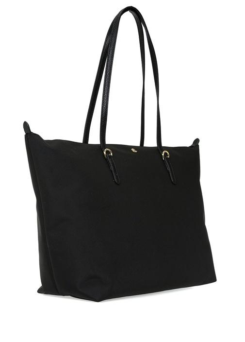 Keaton Siyah Logolu Alışveriş Çantası