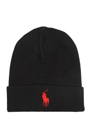 Polo Ralph Lauren Erkek Siyah Logo Nakışlı Bere EU male Standart