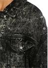 Siyah Trok Detaylı Denim Ceket