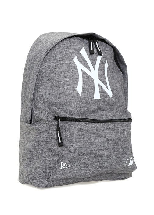 New York Gri Logolu Erkek Sırt Çantası