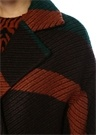 Lawson Çizgili Beli Kuşaklı Kruvaze Palto