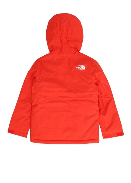 Kırmızı Kapüşonlu Logolu Unisex Çocuk Mont