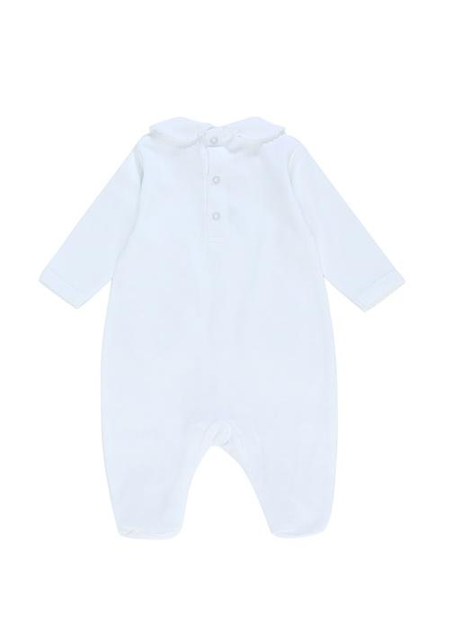 Beyaz Nakışlı Erkek Bebek 4lü Hediye Seti