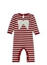 Kırmızı Beyaz Kanat Detaylı Bebek Tulum