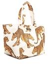 Leopard XL Beyaz Alışveriş Çantası