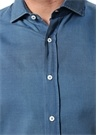 Slim Fit Mavi Yarı İtalyan Yaka Gömlek