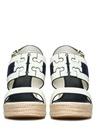 Lacivert Beyaz Logolu Kadın Deri Sandalet