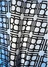 Siyah Mavi Logo Baskılı Kadın İpek Fular