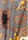 Colorblocked Etnik Desenli Kadın Fular