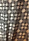 Siyah Bej Logolu 70x70 cm Kadın İpek Eşarp