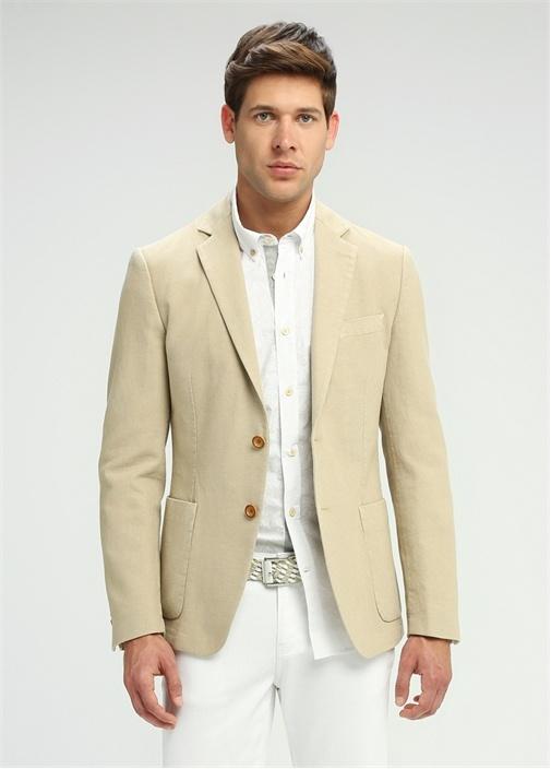 Slim Fit Beyaz Oxford Yaka Tonal Baskılı Gömlek