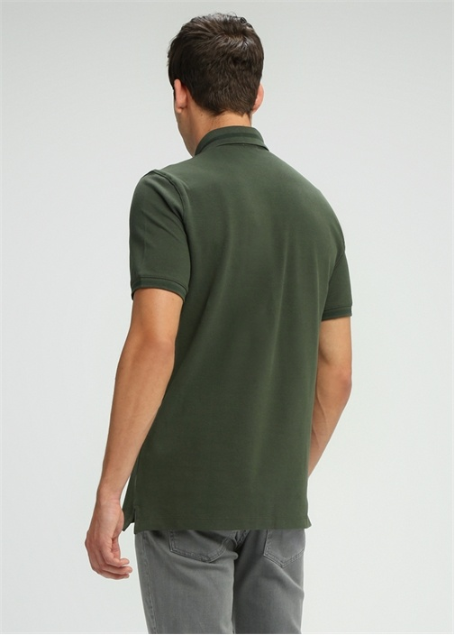 Comfort Fit Haki Polo Yaka T-shirt
