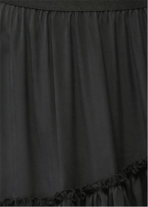 Mini Boy Volanlı Siyah Etek