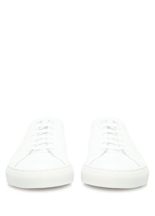 Achilles Low Top Deri Beyaz Erkek Sneaker