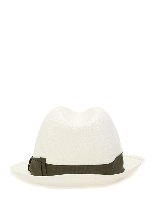 Beyaz Erkek Hasır Şapka
