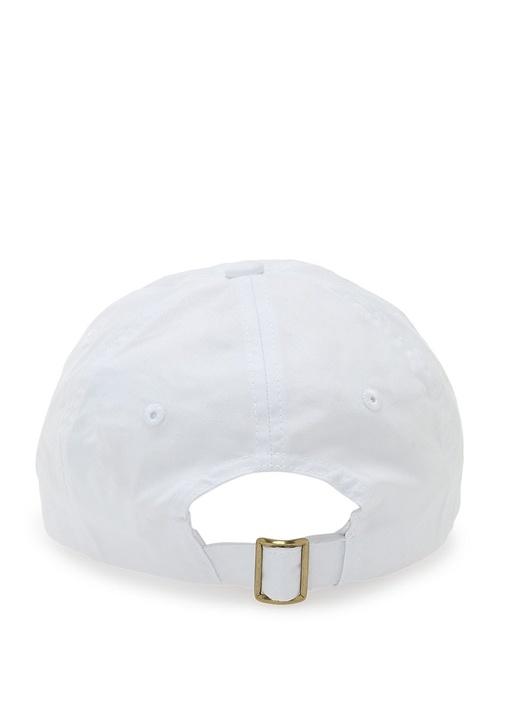 Beyaz Logolu Kadın Şapka