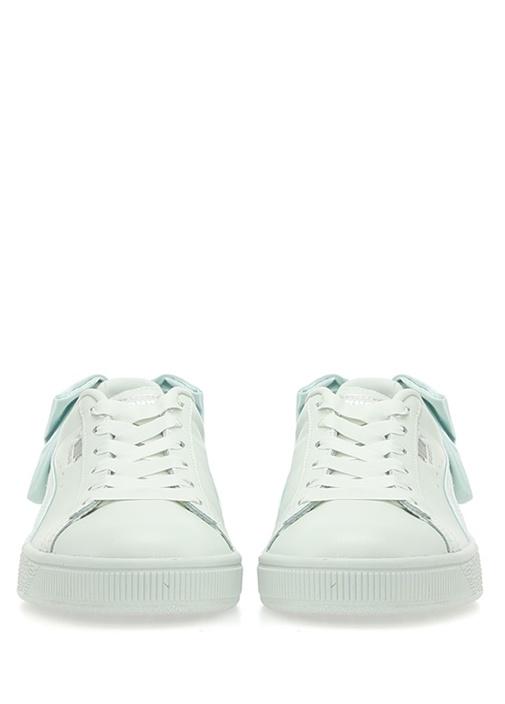 Basket Bow Yeşil Kadın Deri Sneaker