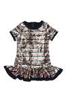 Colourblocked Payetli Kız Çocuk Elbise