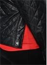 Siyah Polo Yaka Yanları Çıtçıtlı Mont