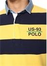 Classic Fit Lacivert Sarı Logolu Polo Yaka T-shirt