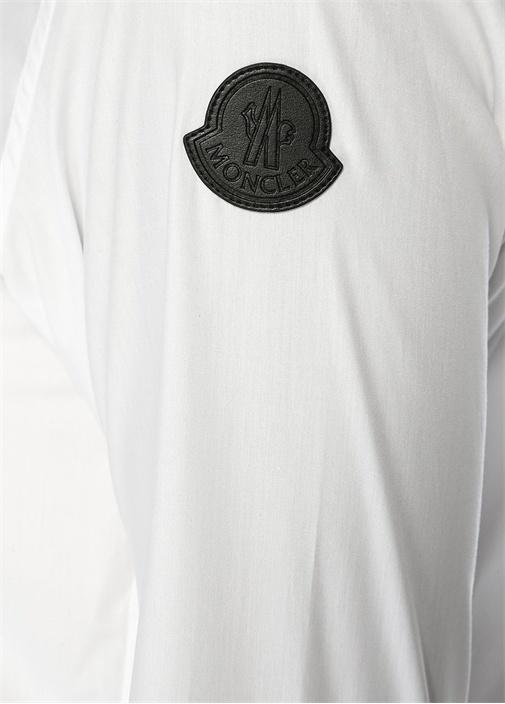 6 Moncler Noir Kei Ninomiya Beyaz Aplikeli Gömlek