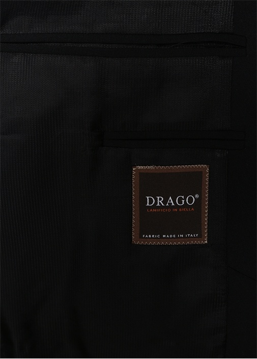 Drop 8 Slim Fit Siyah Kelebek Yaka Yün Smokin