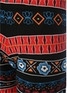 Siyah Yüksek Bel Karışık Desenli Triko Pantolon