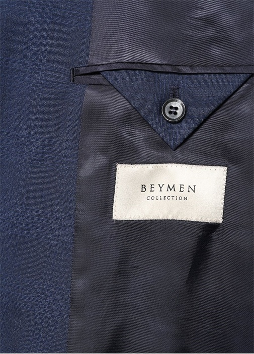 Drop 8 Lacivert Kırlangıç Yaka Yün Takım Elbise
