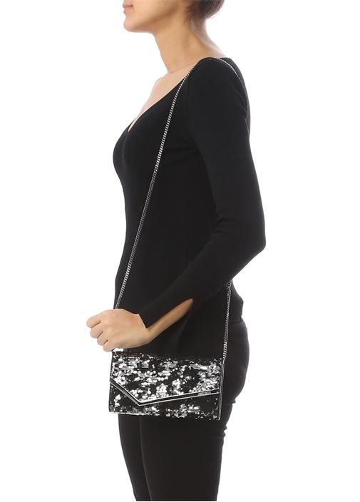 Emmie Siyah Payetli Kadın Abiye Çanta