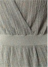 Silver V Yaka Simli Midi Triko Elbise