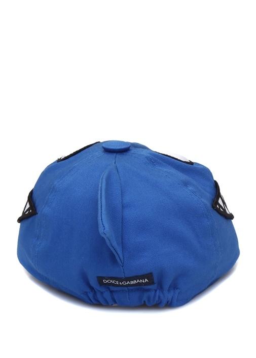 Mavi Patch Detaylı Erkek Bebek Şapka