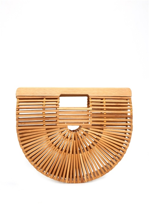 Ark Small Bej Kadın Bambu Çanta