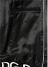 Siyah Dik Yaka Şeritli Rib Detaylı DeriMont