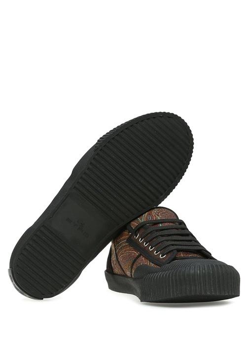 Kahverengi Etnik Desenli Erkek Sneaker