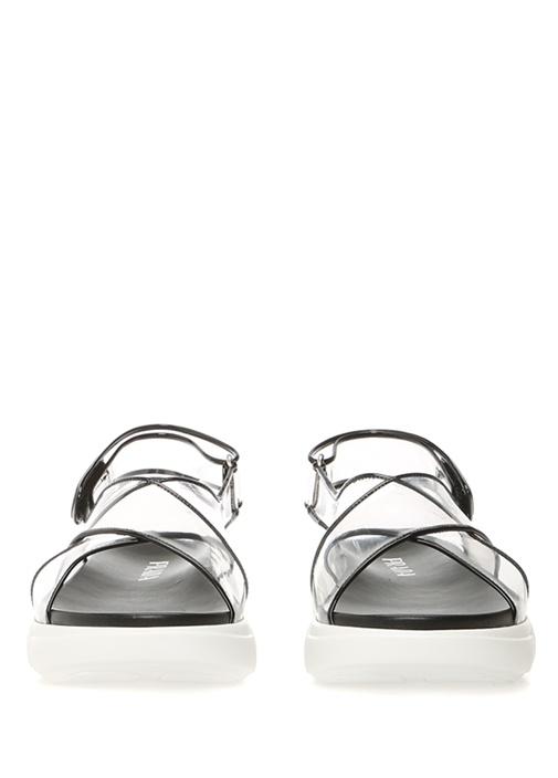Cloudbust Siyah Şeffaf Bantlı Kadın Sandalet