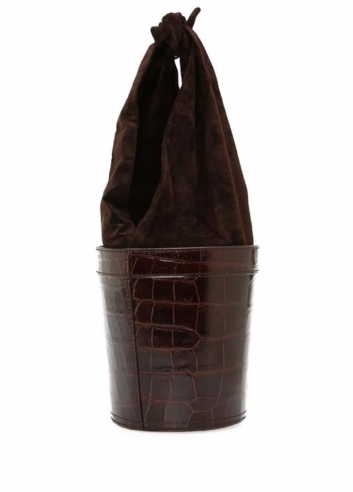 Britt Kahverengi Krokodil Desenli KadınDeri Çanta