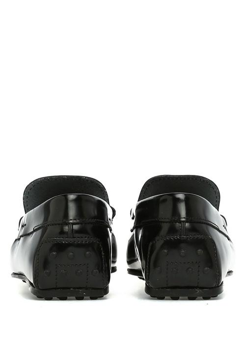 Siyah Logo Toka Detaylı Erkek Deri Driver