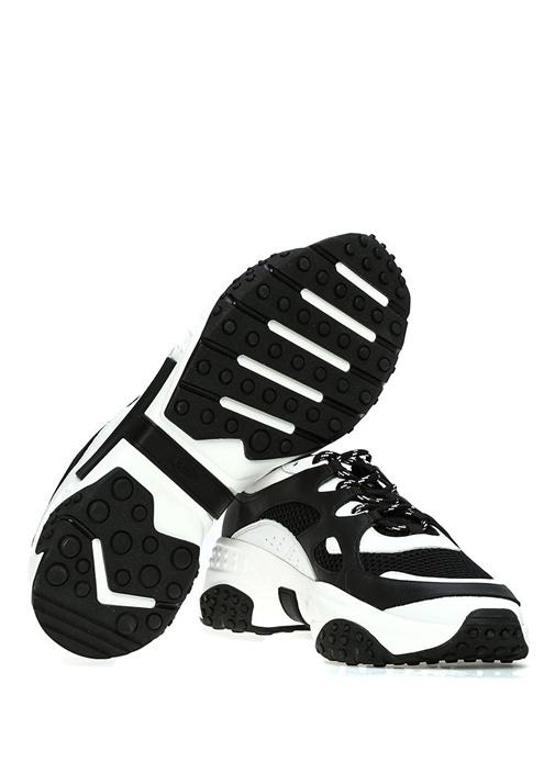 Siyah Beyaz Logo Detaylı Erkek Sneaker