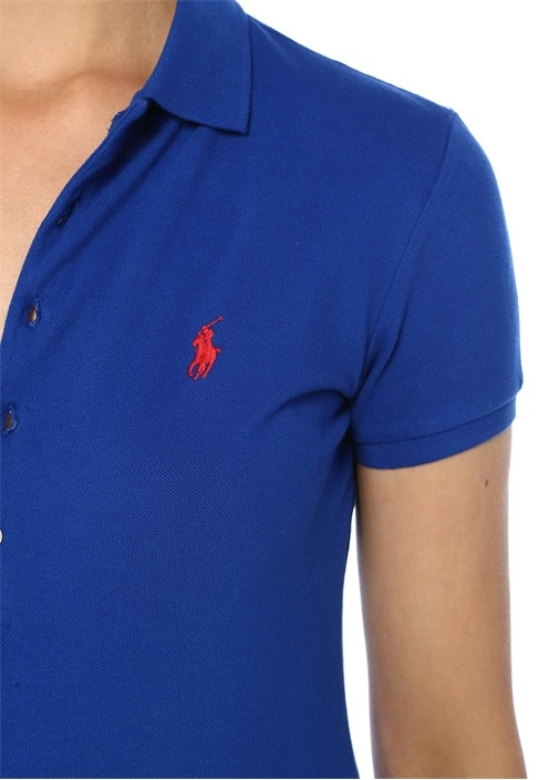Slim Fit Mavi Polo Yaka T-shirt