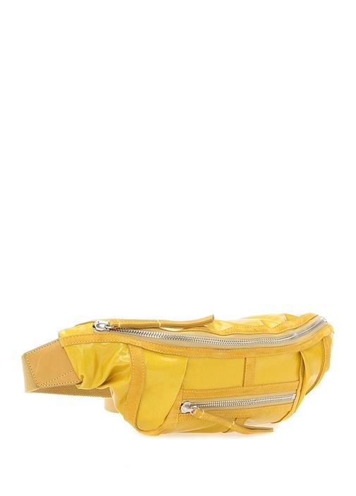 Sarı Logolu Kadın Bel Çantası