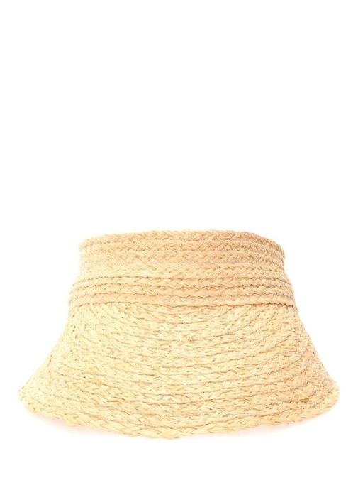 Bej Leopar Desen Detaylı Kadın Şapka
