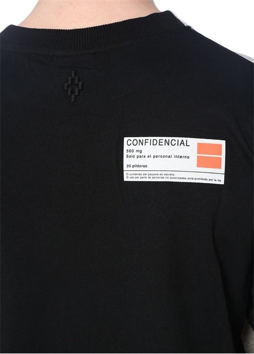 Gri Siyah Baskılı Renk Detaylı T-shirt