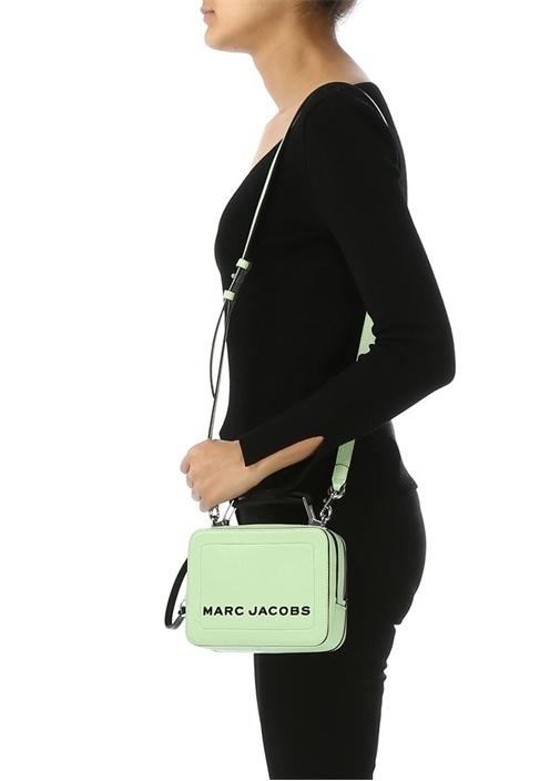 Yeşil Logolu Kadın Deri Omuz Çantası