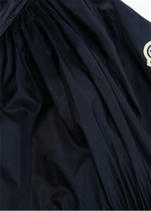 Berne Lacivert Kapüşonlu Logolu Kız Çocuk Mont