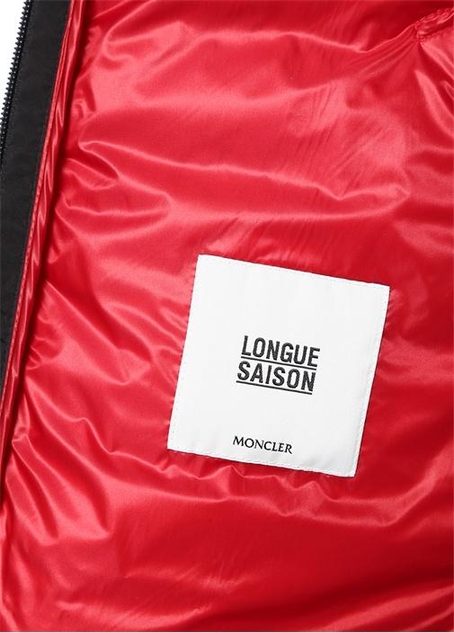 Morvan Kırmızı Logolu Kapüşonlu Puff Mont