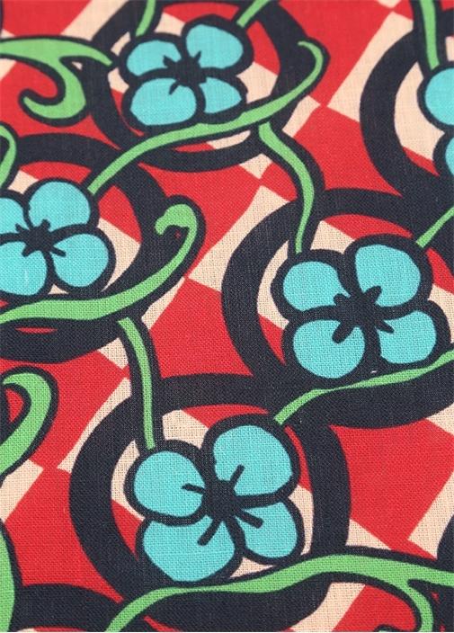 Picnic Kırmızı Çiçekli 2li Keten Amerikan Servis